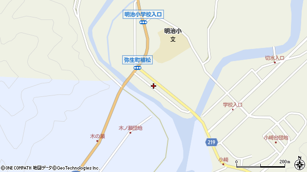 大分県佐伯市弥生大字大坂本1019周辺の地図