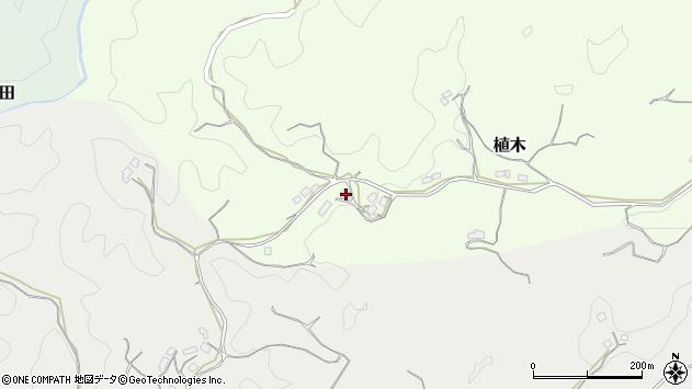 大分県竹田市植木416周辺の地図