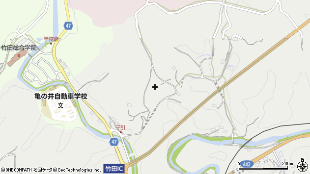 大分県竹田市会々815周辺の地図