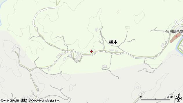大分県竹田市植木474周辺の地図