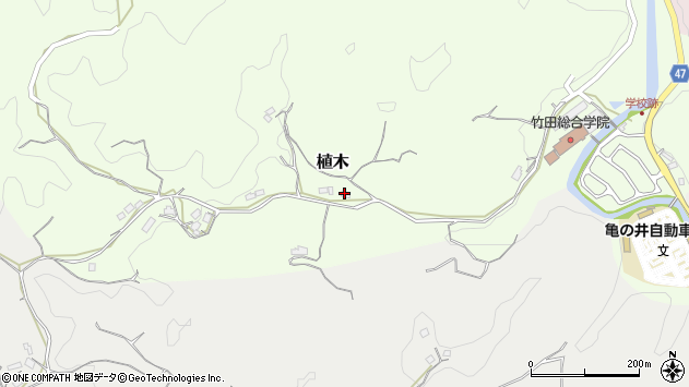大分県竹田市植木551周辺の地図