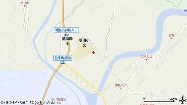 大分県佐伯市弥生大字大坂本1118周辺の地図