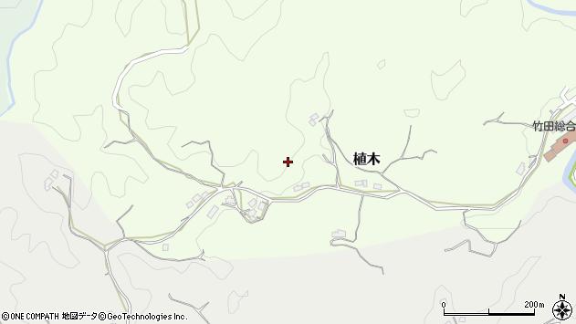 大分県竹田市植木424周辺の地図
