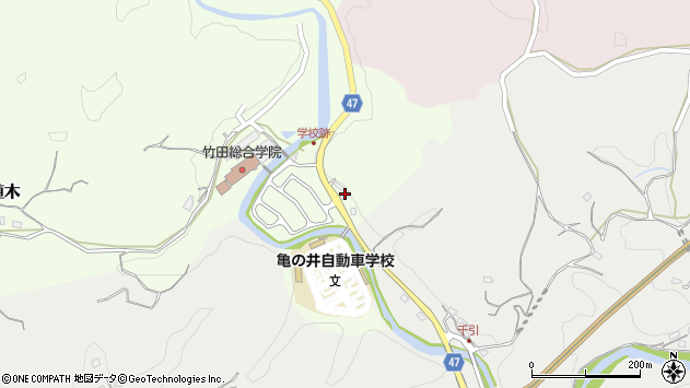 大分県竹田市植木746周辺の地図