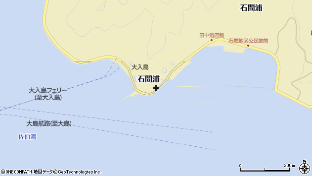 大分県佐伯市石間浦735周辺の地図