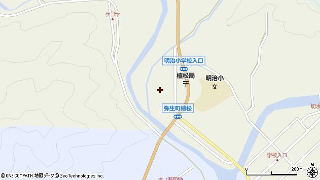 大分県佐伯市弥生大字大坂本植松周辺の地図