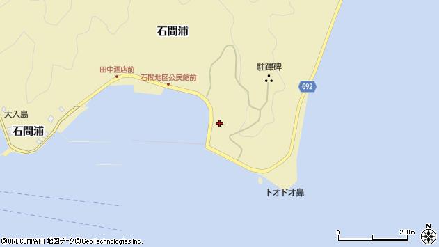 大分県佐伯市石間浦168周辺の地図