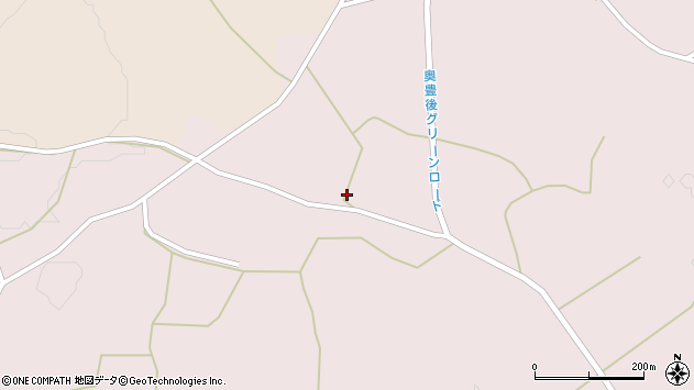 大分県竹田市久保三本松周辺の地図