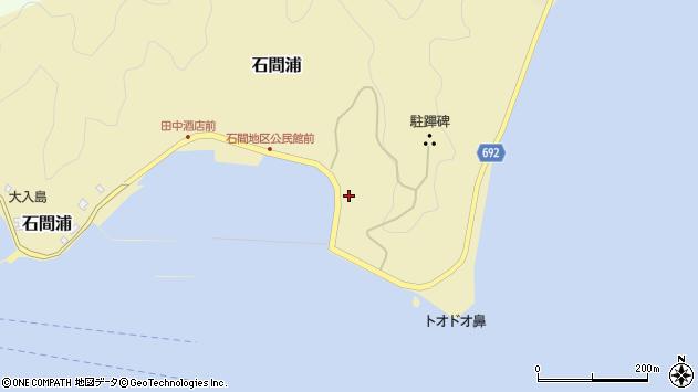 大分県佐伯市石間浦172周辺の地図
