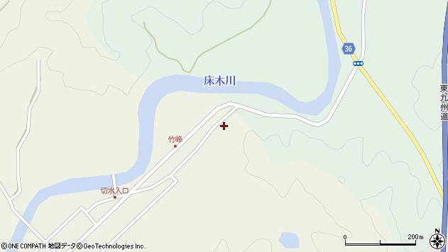 大分県佐伯市弥生大字床木18周辺の地図