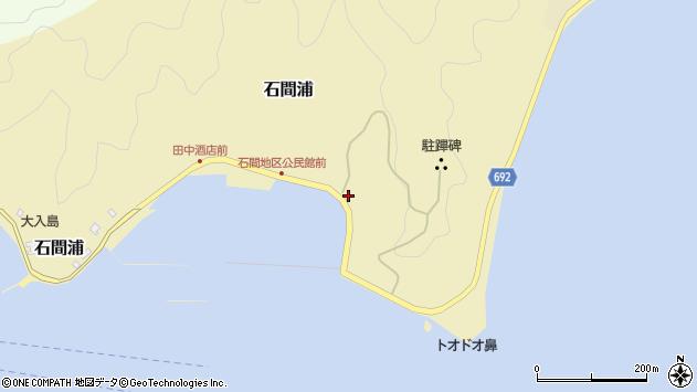 大分県佐伯市石間浦185周辺の地図