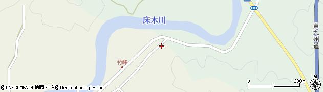 大分県佐伯市弥生大字床木20周辺の地図