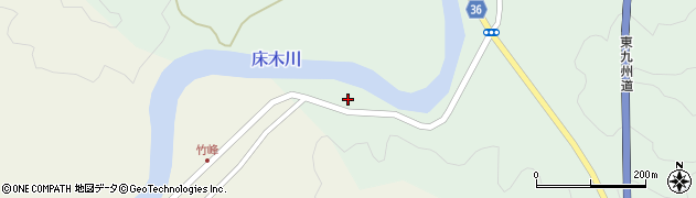 大分県佐伯市弥生大字床木29周辺の地図