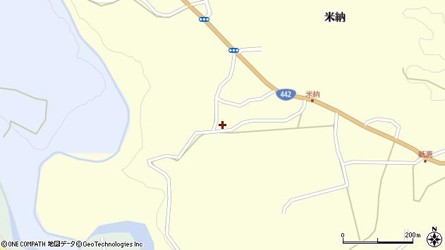 大分県竹田市米納582周辺の地図