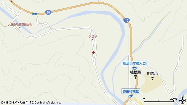 大分県佐伯市弥生大字大坂本2399周辺の地図