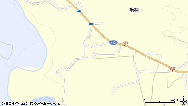大分県竹田市米納591周辺の地図