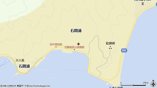 大分県佐伯市石間浦375周辺の地図