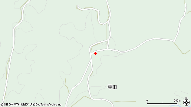 大分県竹田市平田3391周辺の地図