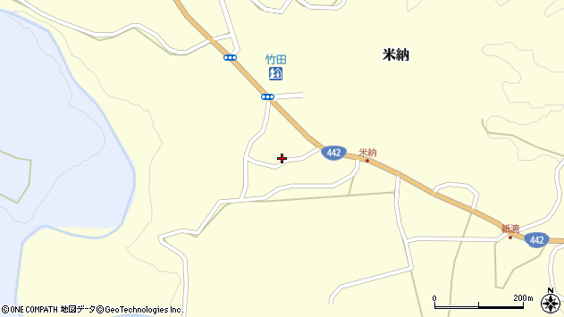 大分県竹田市米納602周辺の地図