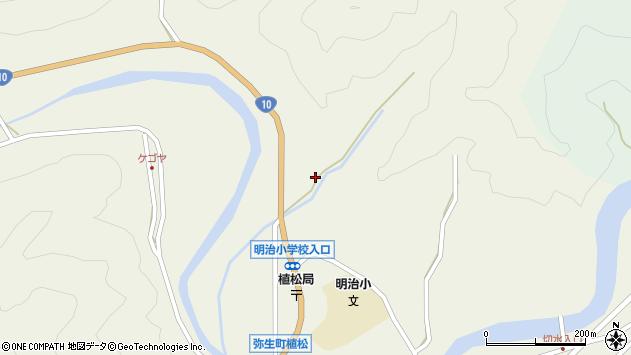 大分県佐伯市弥生大字大坂本1257周辺の地図
