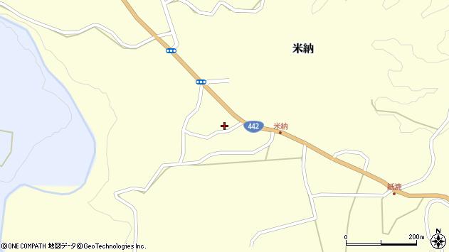 大分県竹田市米納601周辺の地図