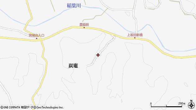 大分県竹田市炭竈269周辺の地図