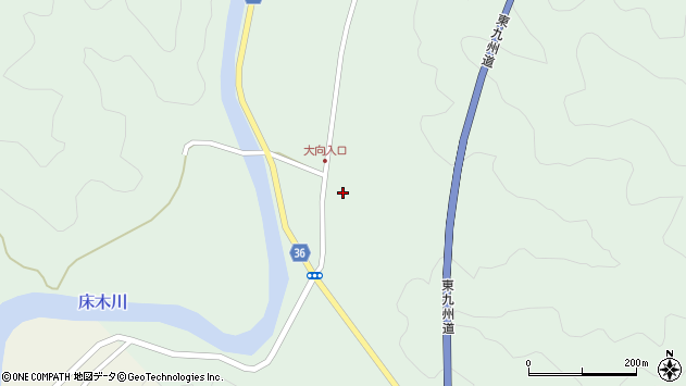 大分県佐伯市弥生大字床木227周辺の地図