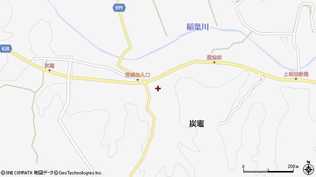 大分県竹田市炭竈403周辺の地図