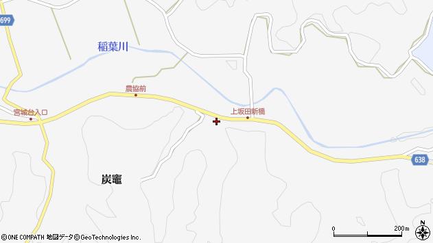 大分県竹田市炭竈金市周辺の地図