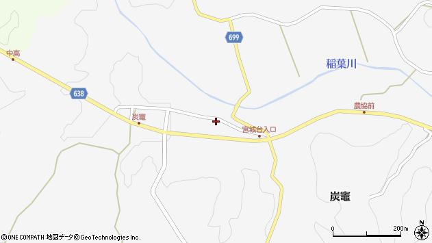 大分県竹田市炭竈671周辺の地図