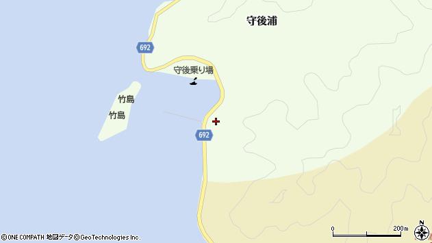 大分県佐伯市守後浦1032周辺の地図