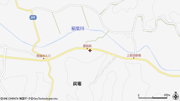 大分県竹田市炭竈342周辺の地図
