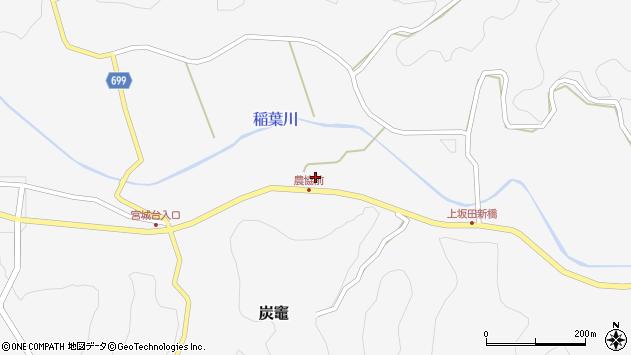 大分県竹田市炭竈371周辺の地図