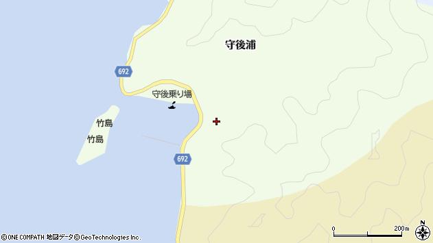 大分県佐伯市守後浦1026周辺の地図