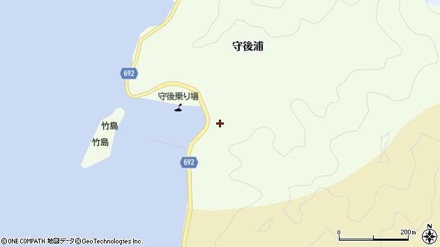 大分県佐伯市守後浦1022周辺の地図