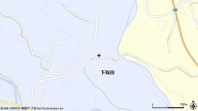 大分県竹田市下坂田611周辺の地図