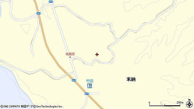 大分県竹田市米納1111周辺の地図