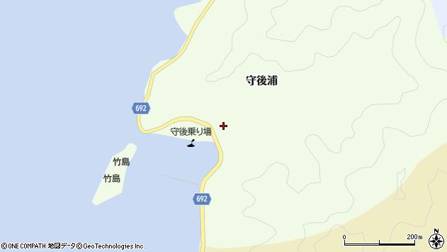 大分県佐伯市守後浦周辺の地図