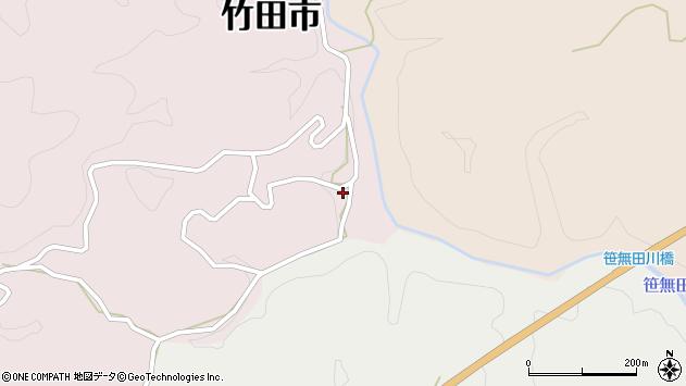 大分県竹田市枝1962周辺の地図