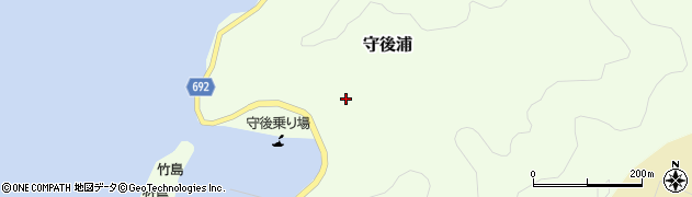 大分県佐伯市守後浦890周辺の地図