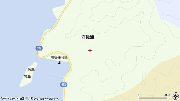 大分県佐伯市守後浦951周辺の地図