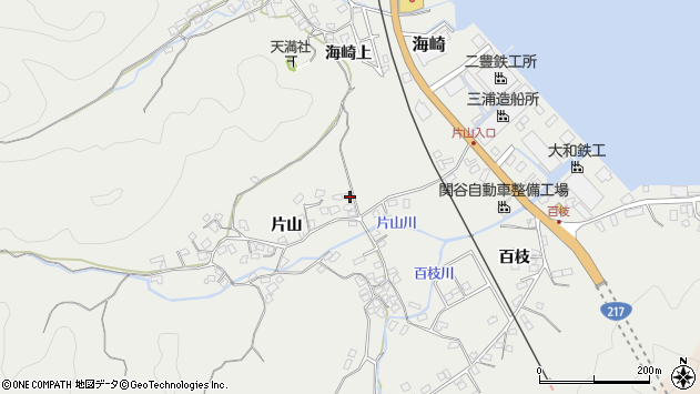 大分県佐伯市海崎1051周辺の地図