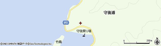 大分県佐伯市守後浦843周辺の地図
