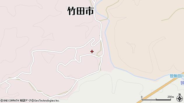 大分県竹田市枝1936周辺の地図