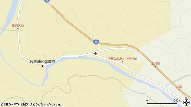 大分県佐伯市弥生大字尺間31周辺の地図