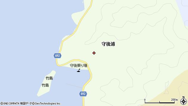 大分県佐伯市守後浦892周辺の地図