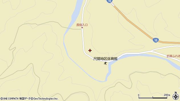 大分県佐伯市弥生大字尺間501周辺の地図