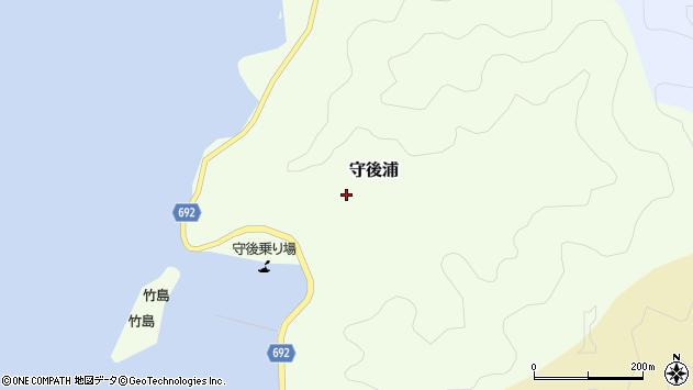大分県佐伯市守後浦895周辺の地図