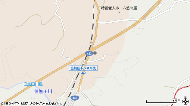 大分県竹田市三宅1807周辺の地図