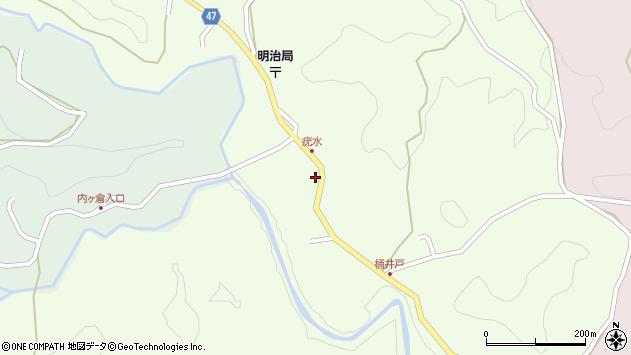 大分県竹田市植木1895周辺の地図